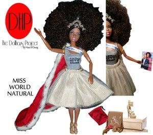 Image of Miss World Natural fashion doll