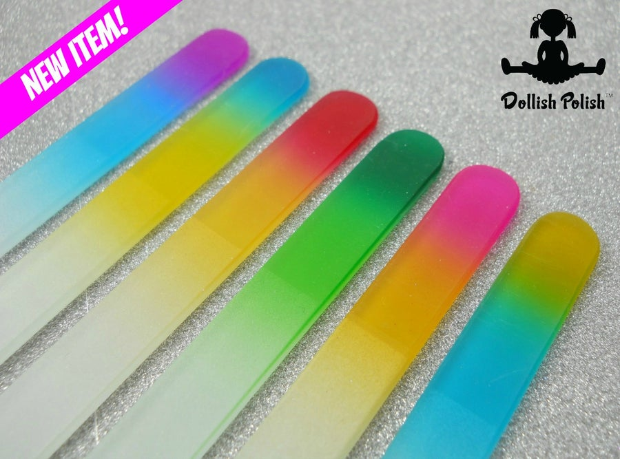 Image of *NEW ITEM * Gradient Crystal Glass Nail File