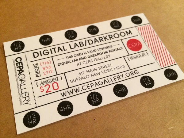 Image of Darkroom & Digital Lab Discount Card