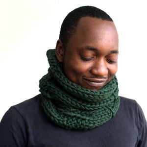 Image of Forest Green Wool Cowl