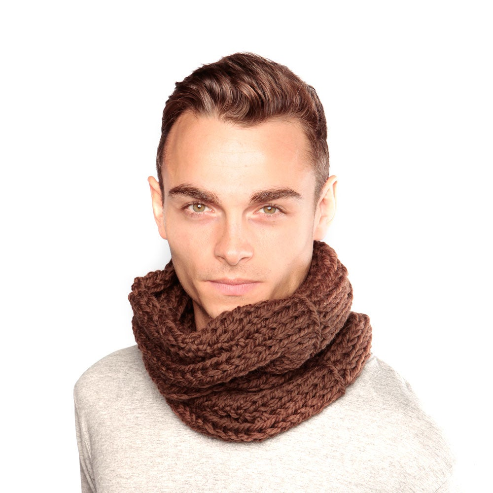 Image of Brown Wool Snood