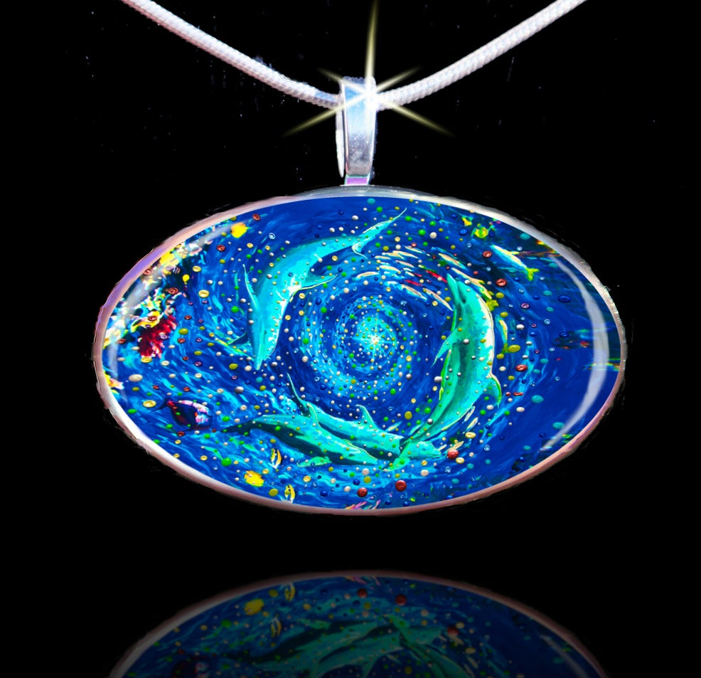 Image of Dolphin Vortex - The Healing World Pendant