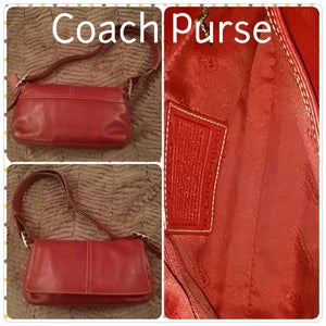 Image of burgundy coach purse