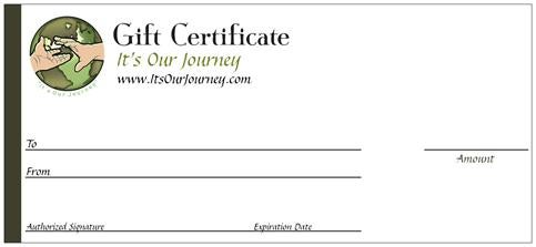 Image of GIFT CERTIFICATE