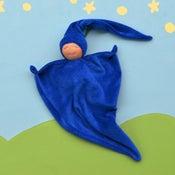 Image of Velour Blanket Doll - Dark Blue/light skin
