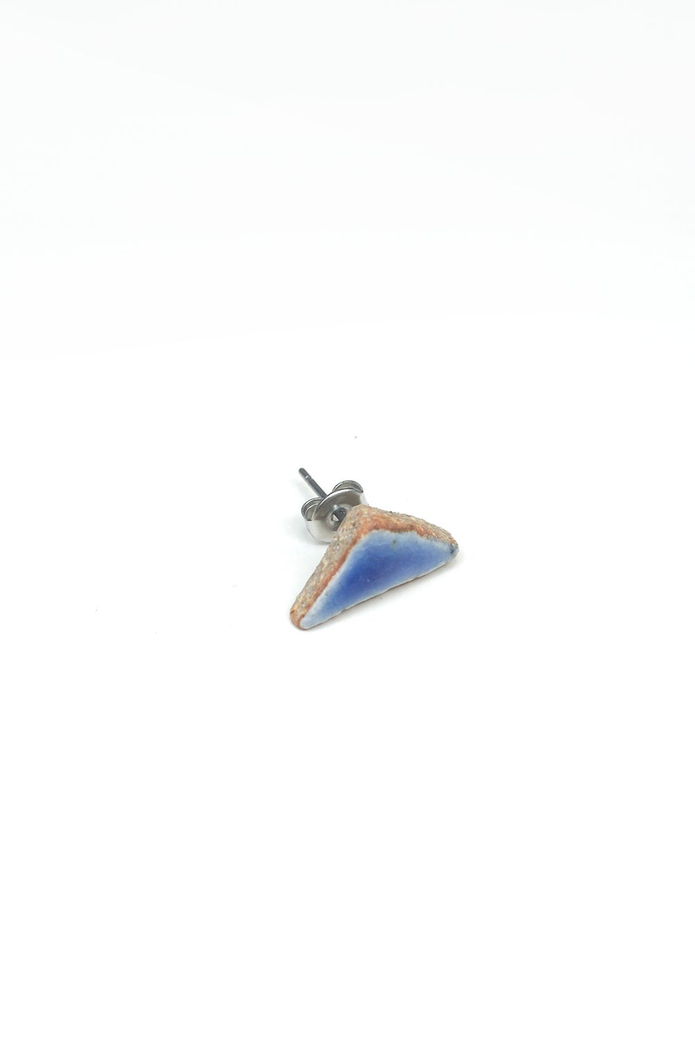 Image of blue triangle earring