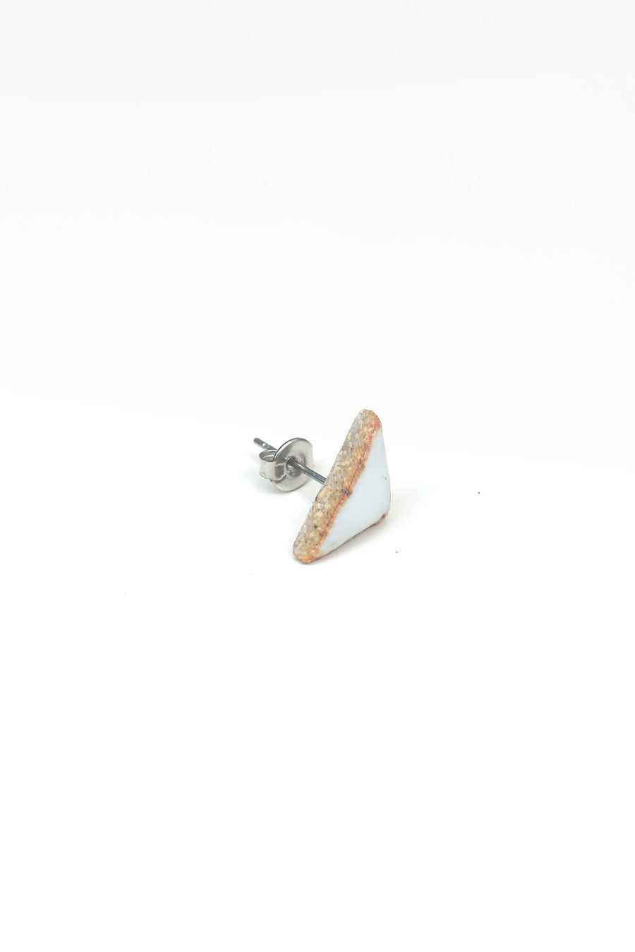 Image of white triangle earring