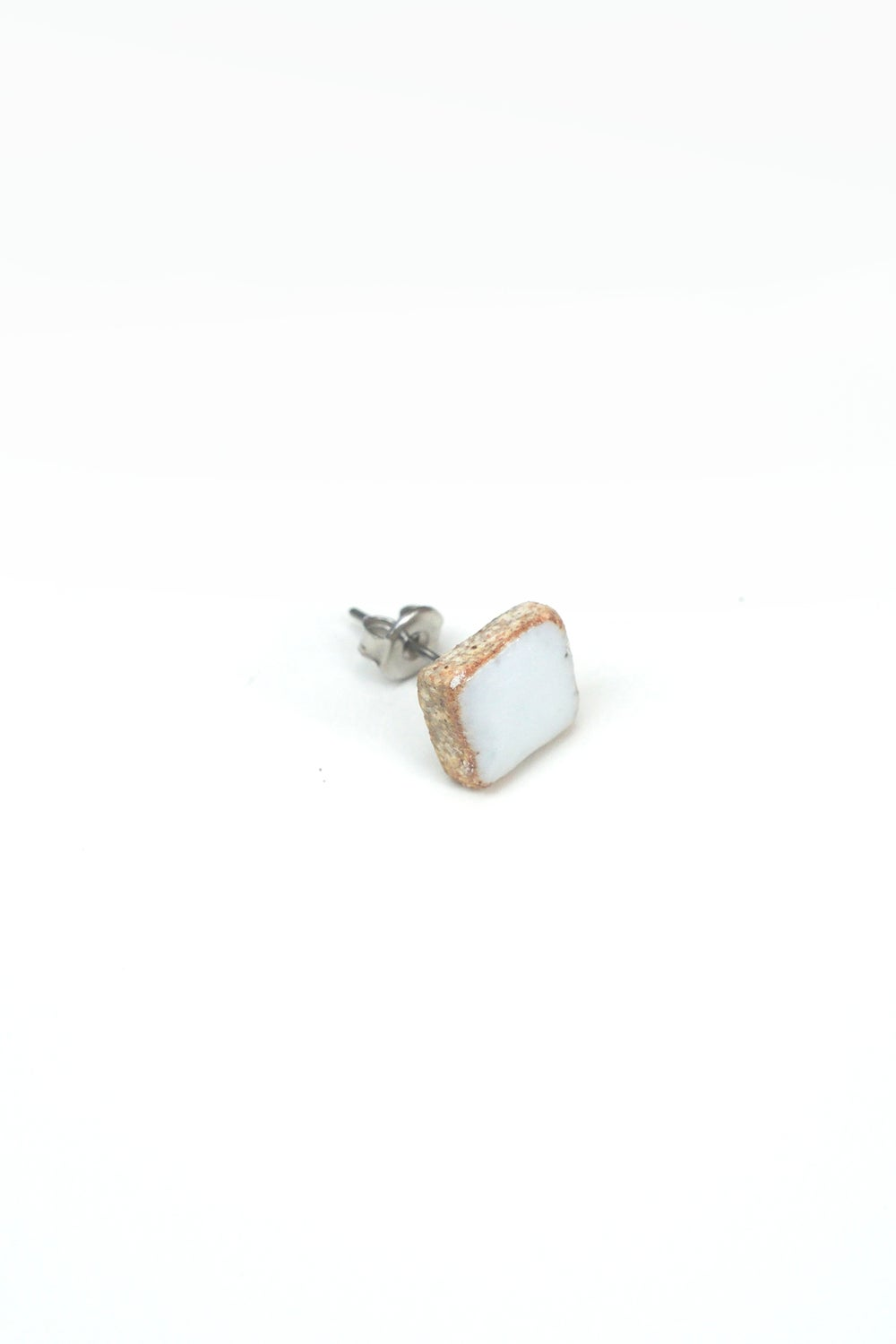 Image of white square earring