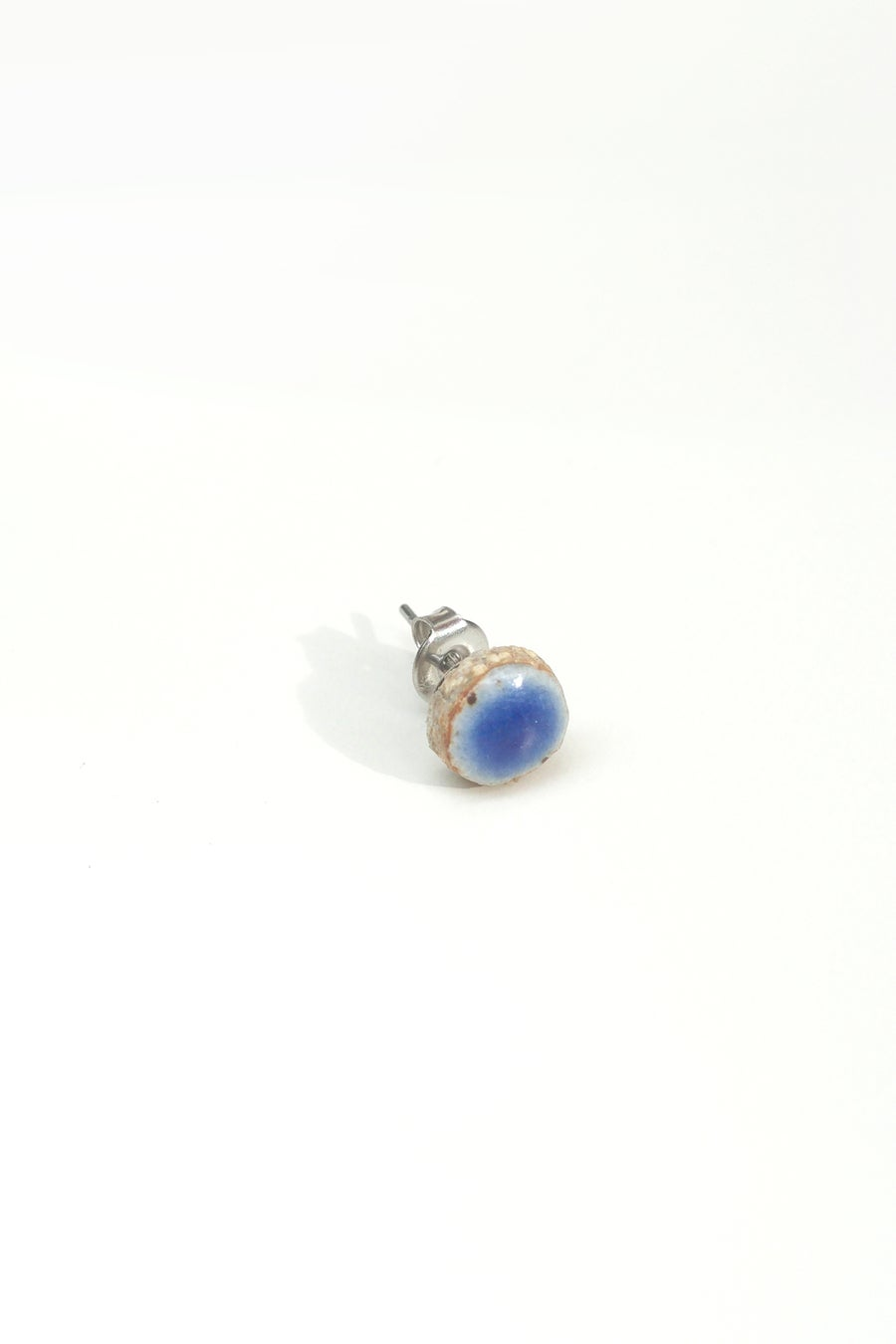 Image of blue circle earring