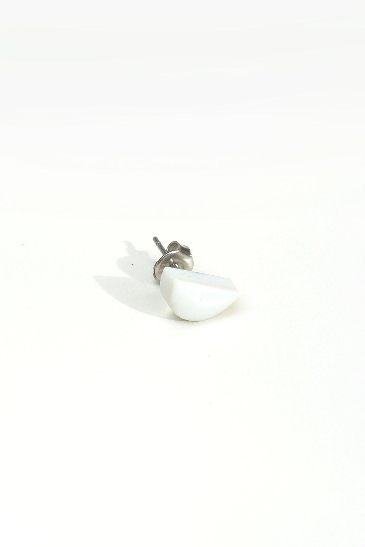 Image of half moon earring