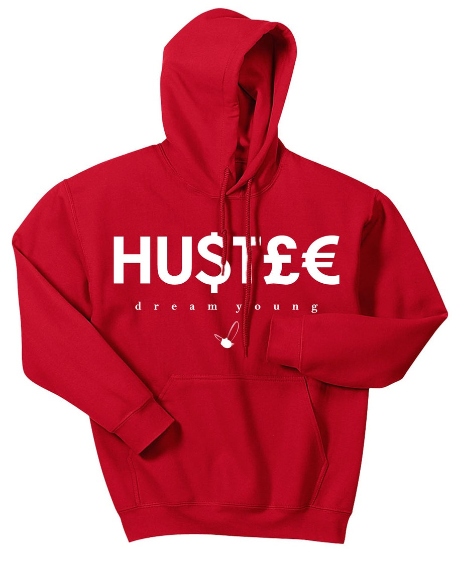 "Image of ""HU$T£€""  CHRISTMAS EDITION RED/HOODY"