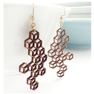 Image of Large Honeycomb Earrings