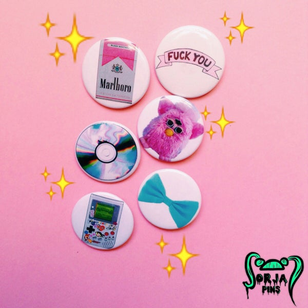 Image of WHAT GIRLS WANT PINS SET