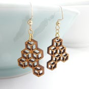 Image of Small Honeycomb Earrings