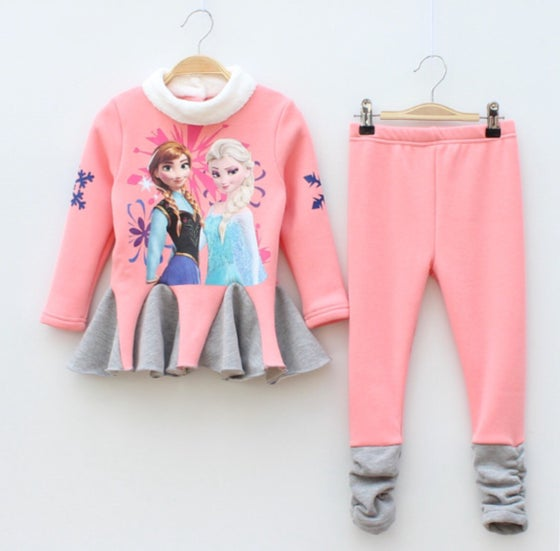 Image of Girls Frozen Pants Set