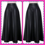 Image of Faux Leather Maxi Skirt