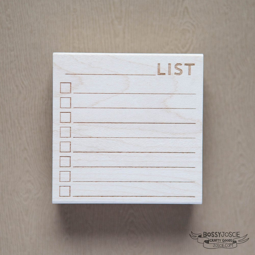 Image of Post it Note sized Blank List Stamp
