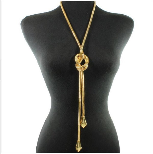 Image of Snake Bite Necklace in Gold