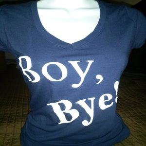 Image of Boy Bye Navy Blue Shortsleeve Tee