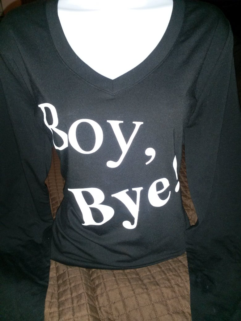 Image of Boy Bye Black Longsleeve Tee