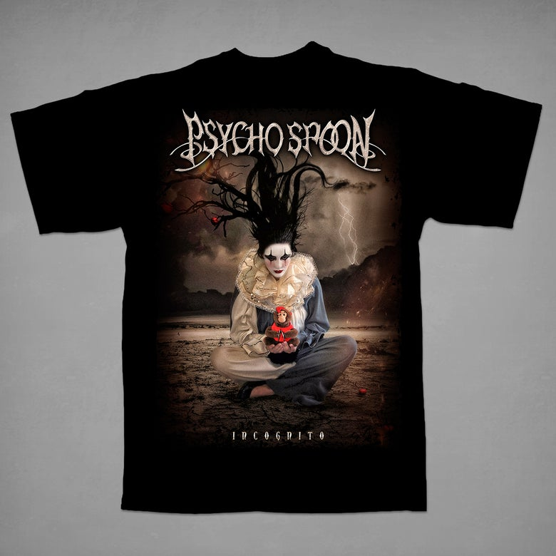 Image of Psycho Spoon - Incognito cd cover t-shirt