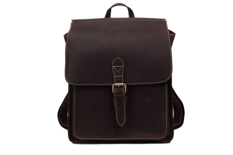 Image of Vintage Leather Backpack, Messenger Bag, Laptop Briefcase, Handbag 6963