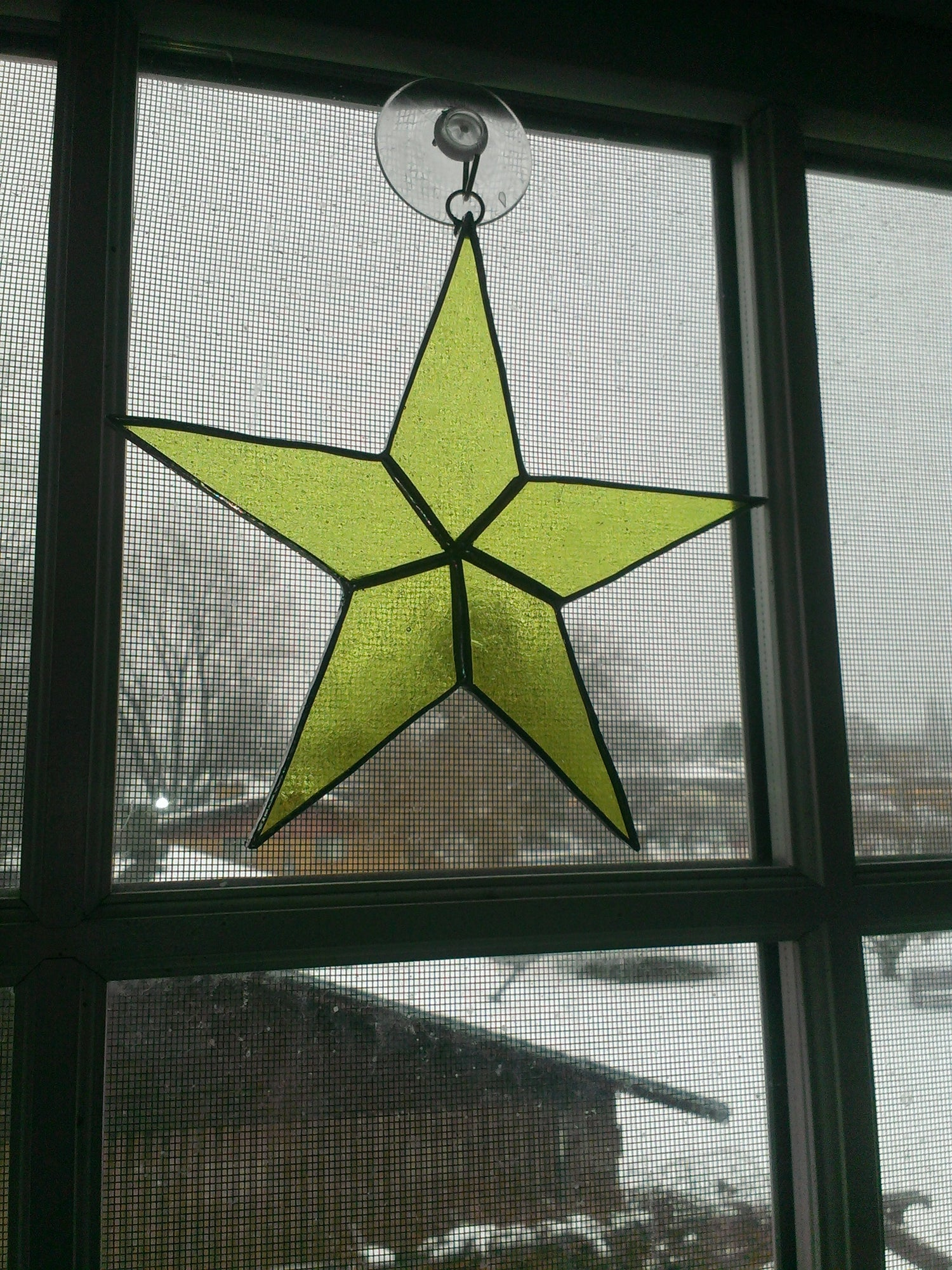 Image of Transparent Solid Star-stained glass