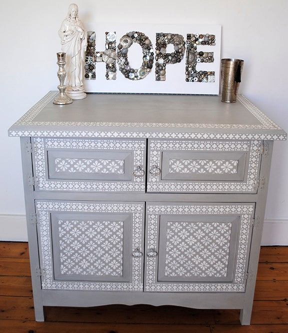 Image of Lodi Stencilled Cupboard