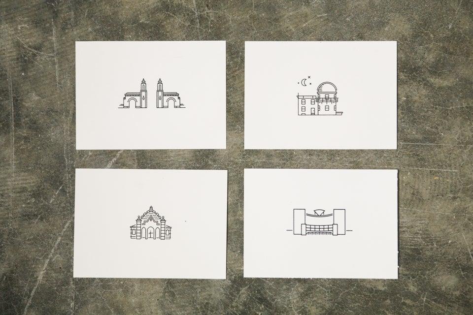 Image of Landmarks Print Set