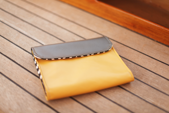 Image of Tasca vegan iPad sleeve mustard/grey