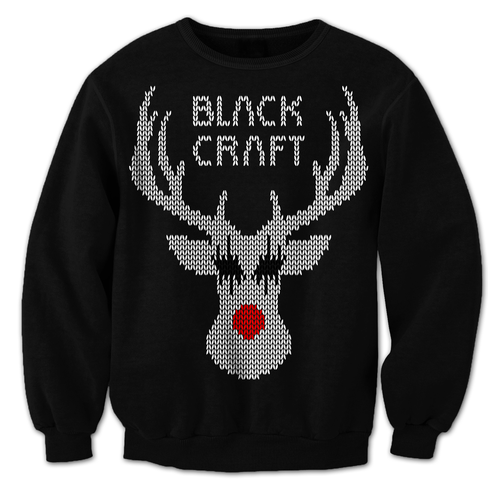 Image of Black Metal Rudolph - Crewneck Sweater
