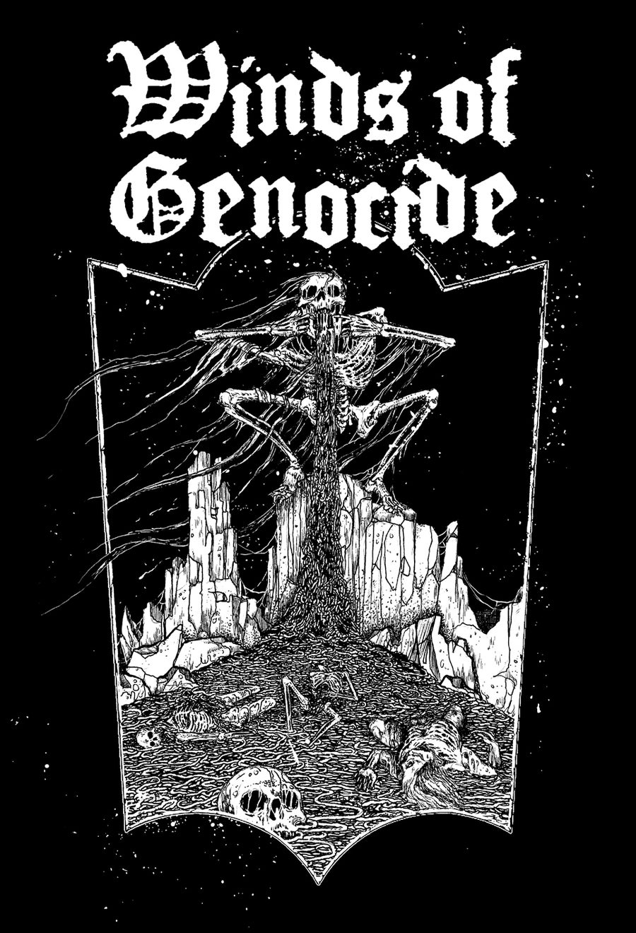 """Image of WINDS OF GENOCIDE """"Usurping The Throne Of Disease""""  T-Shirt"""