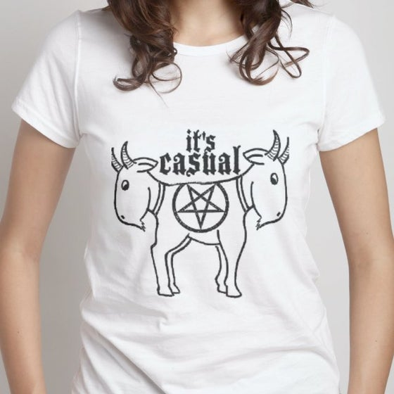 Image of Cute Goat Ladies white standard