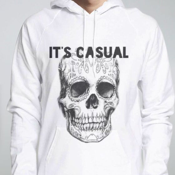 Image of day of the dead men's pull over hoodie,
