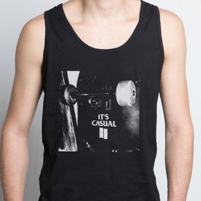 Image of men's black tank top
