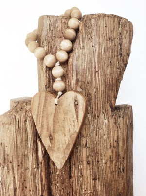 Image of Love Beads for the home - Reclaimed Mini Style in Brown with Heart