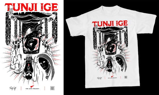"Image of Tunji Ige ""Slow Dance"" Tee (white)"