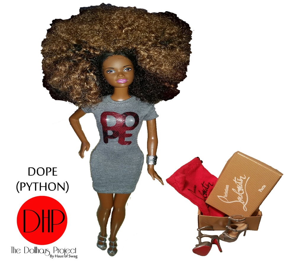 Image of Dope In Python Script fashion doll