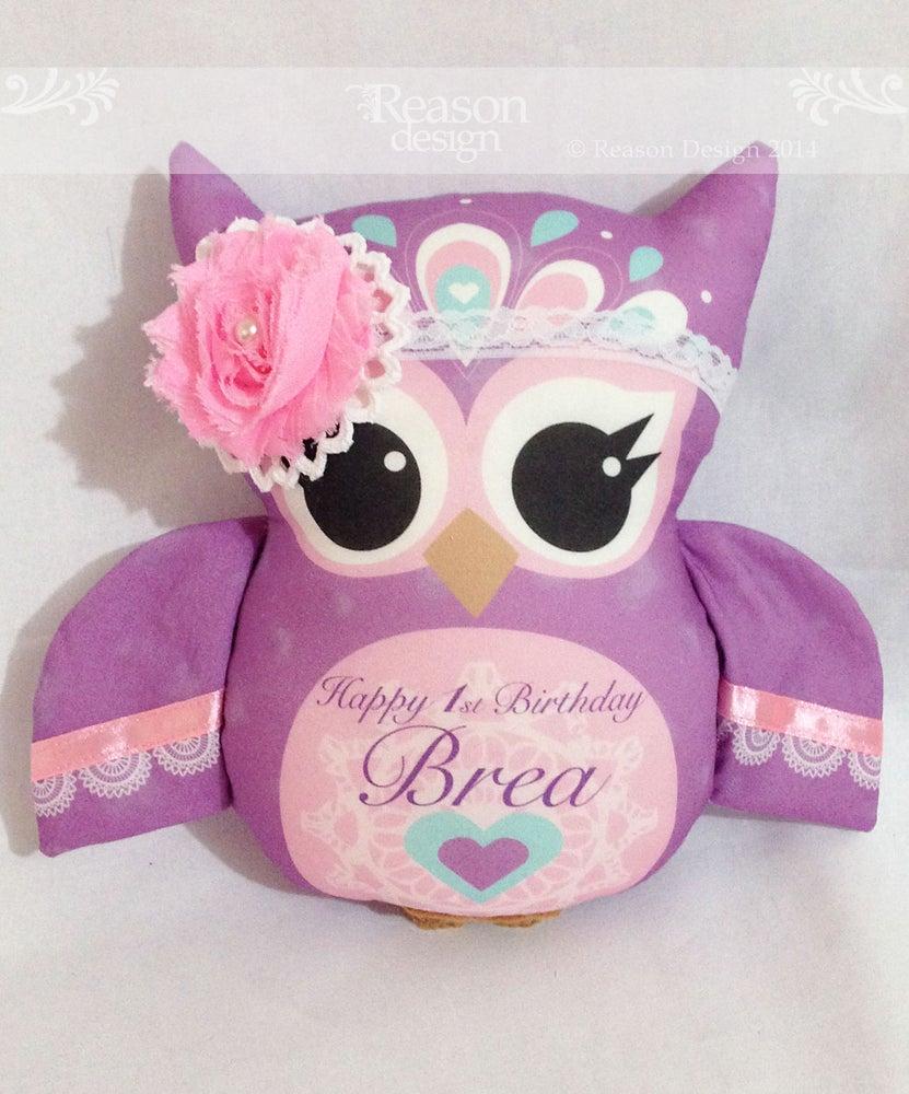Image of Custom Name Girls Owl #2