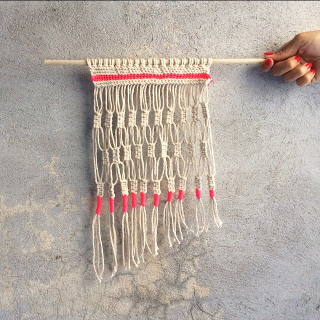 Image of HANDMADE MACRAME WALL WEAVING 6