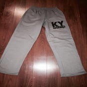 Image of KY Raised Charcoal Grey & Black Sweatpants