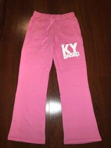 Image of KY Raised Female Pink & White Sweatpants
