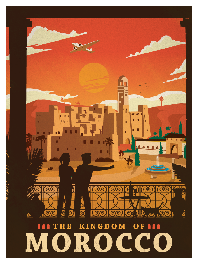 Image of Vintage Morocco Poster