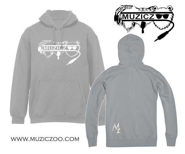 Image of Grey L.T.B. Logo Hooded Sweater
