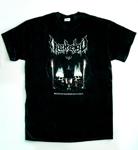 "Image of VANHELGD ""Relics Of Sulphur Salvation (Album Cover)"" T-Shirt"