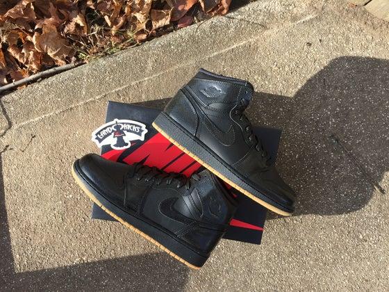 Image of Nike Air Jordan 1 Retro High OG BG 'Black/Gum'