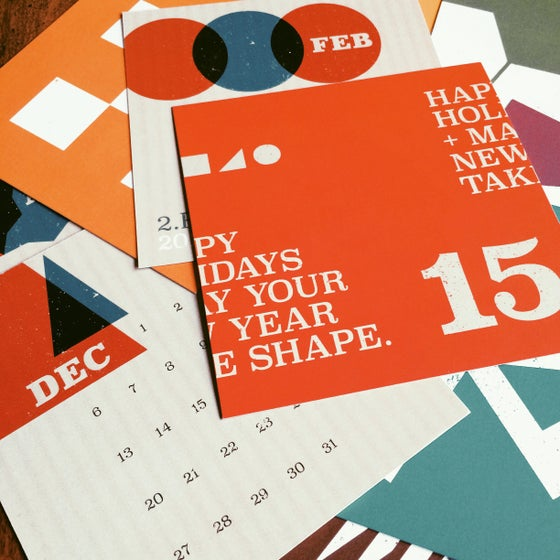 Image of 2015 Calendar Cards
