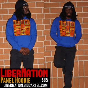 Image of LiberNation Panel Hoodie Blue
