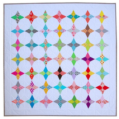 Image of 5 Inch Hummingbird Block ~ FOUNDATION PAPER PIECING PATTERN