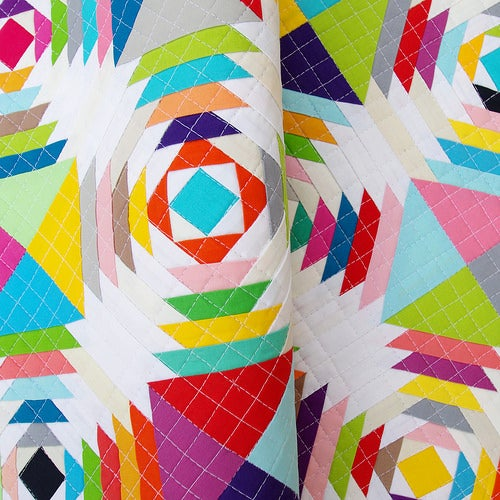 Image of Scrappy Pineapple Block - FOUNDATION PAPER PIECING PATTERN